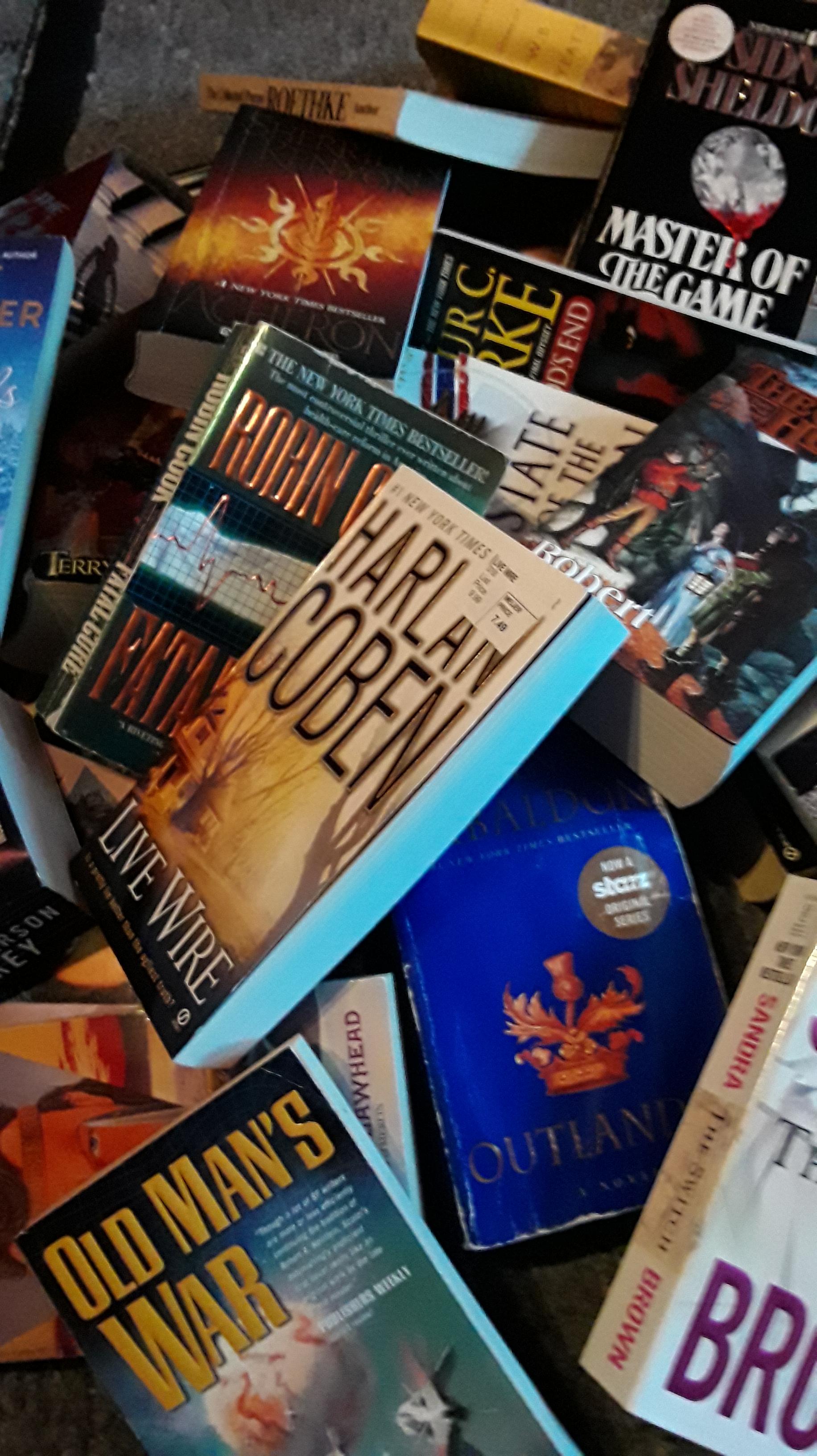 jumble of books